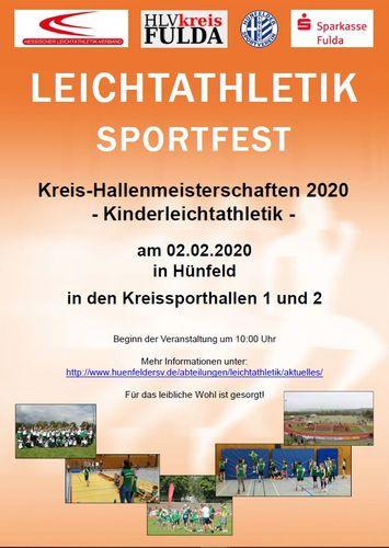 """""""Kreis-Hallenmeisterschaften der Kinderleichtathletik"""" am 02.02.2020 in Hünfeld"""